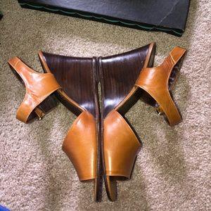 Vintage wedge heels